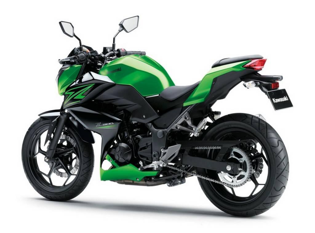 Ficha técnica da Kawasaki Z 300 2016 a 2019